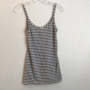 XS Abercrombie & Fitch white and navy stripe tank.
